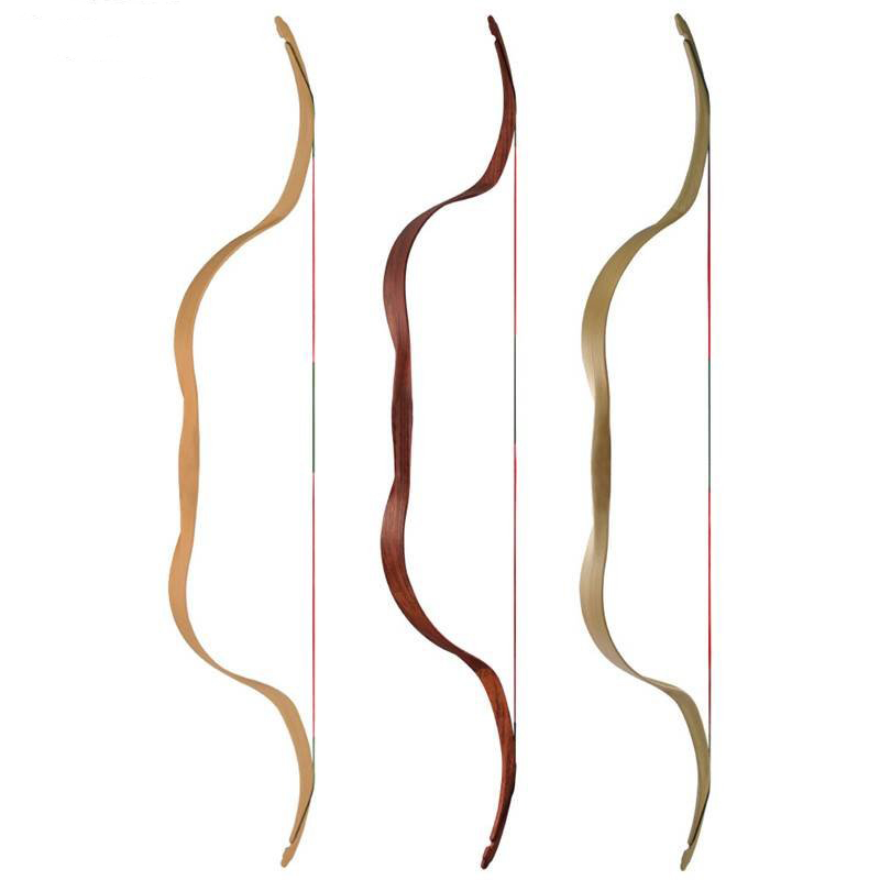 China Archery Traditional Bow For Beginner Red Color Wood-imitation Hunting Bow with 3 Cols Brand