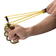 wholesale archery Slingshot With Round Rubber Bands Antique Brass Col Of Archery Hunting Slingshot